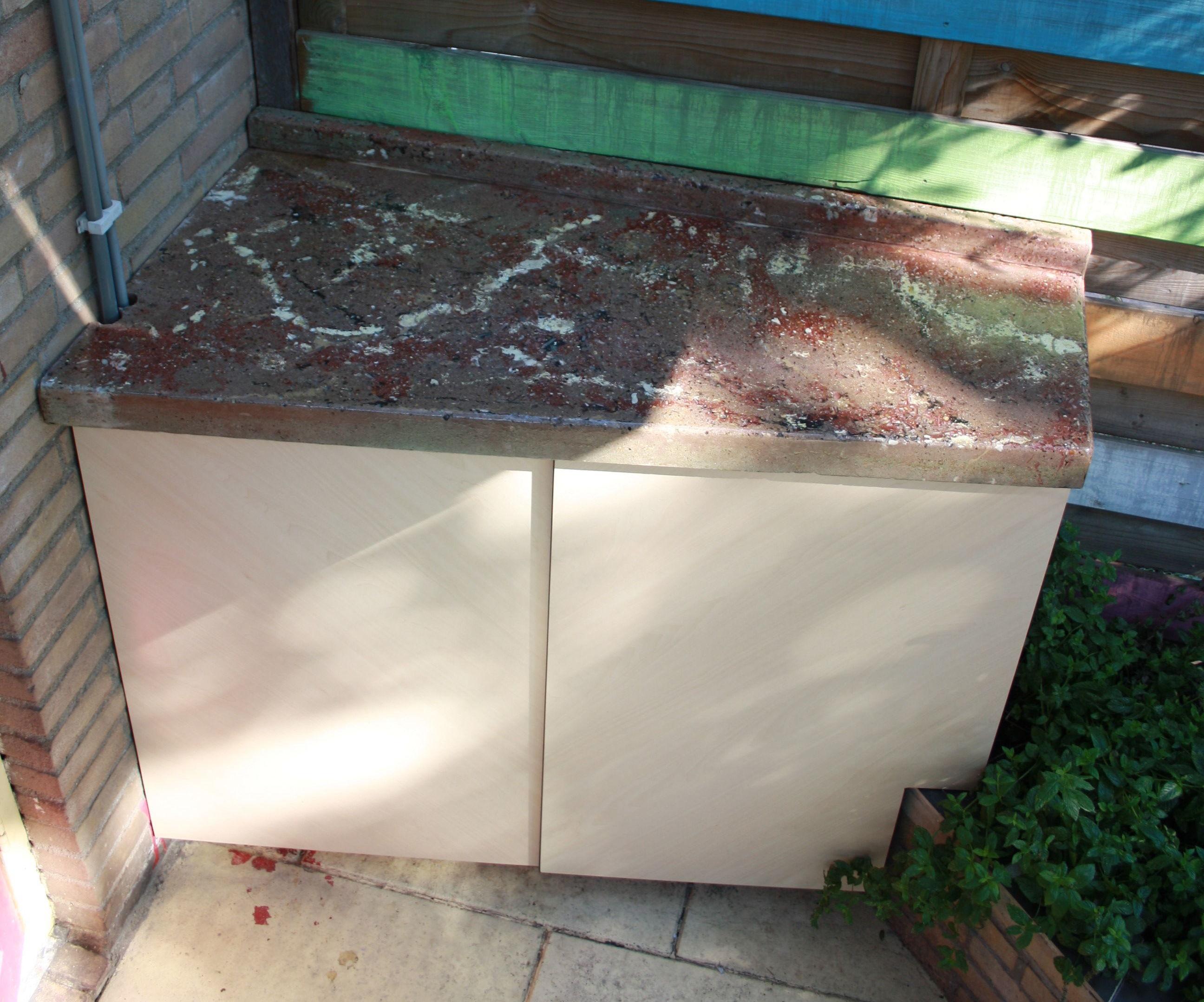 Polished Concrete Garden Kitchen