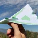 Card Stock & Paper Twin Fin Delta Airplane