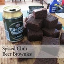 Spiced Chili Beer Brownies