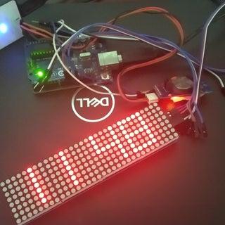Arduino Matrix Clock