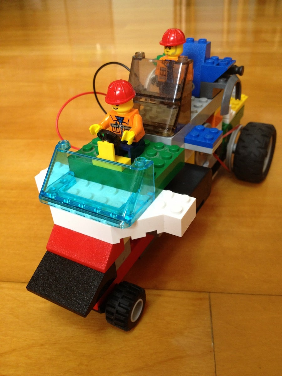 Motorize a LEGO Car by a Motor From a Broken DVD Player