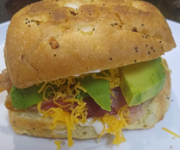 ABC Sandwich With Homemade Garlic Habanero Aoli