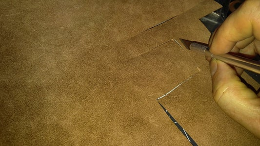 Transfer the Pattern to Your Leather & Cut It Out