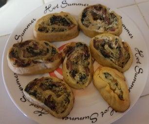 Spinach Artichoke Dip Pinwheels