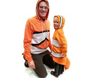 No-Sew Finding Nemo Clownfish Costume