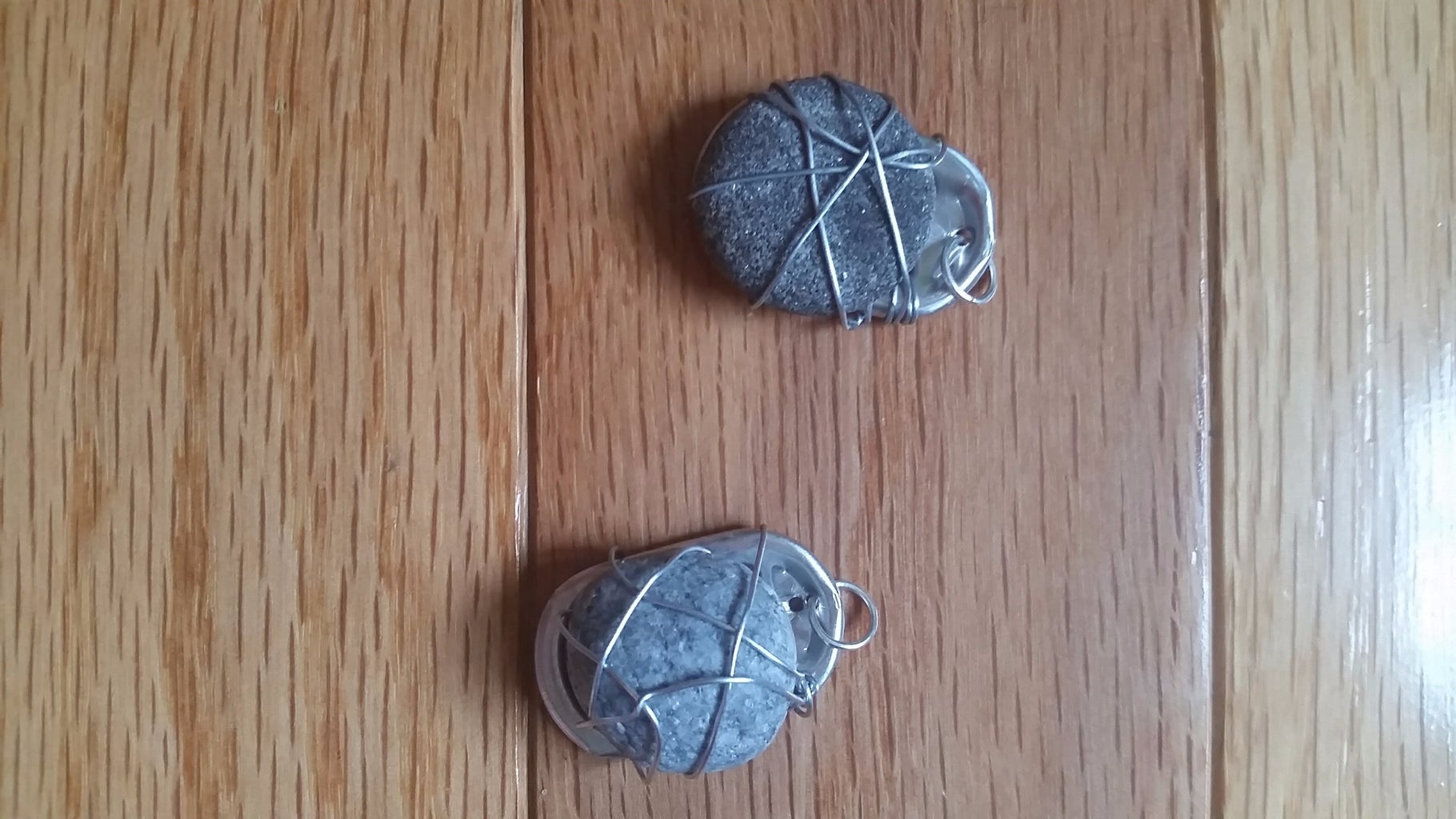 Make Rock Pendants From Soda Can Tabs!