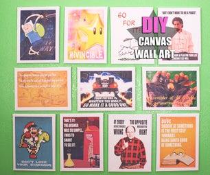 Canvas Wall Art (With a Geek Twist)