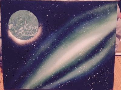 Galaxy Spray Paint Art