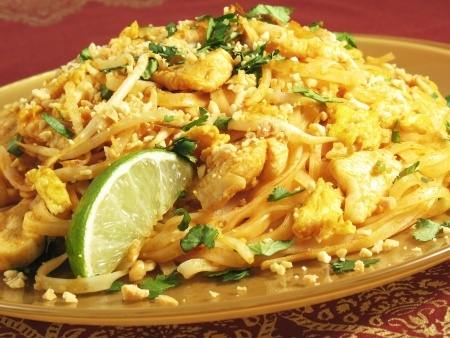 Pad Thai Noodles with Chicken