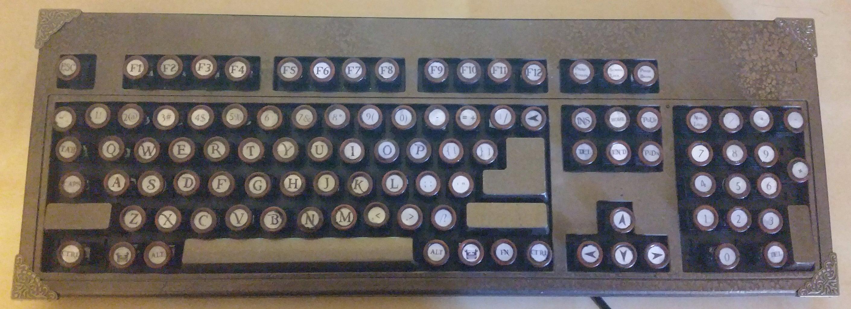 Homemade Steampunk Keyboard