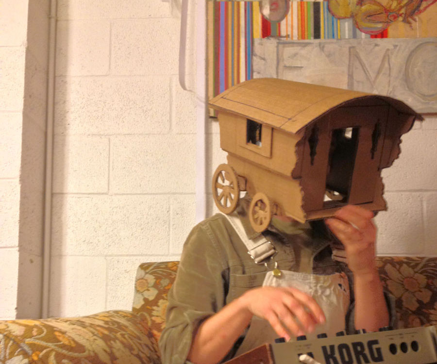 Wearable Cardboard Caravan
