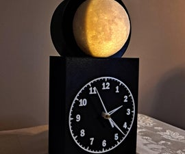 Lighted 3D Moon Phase Clock