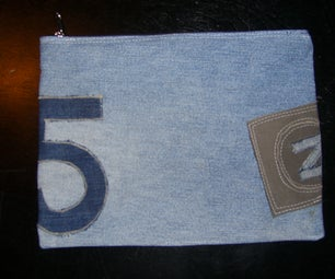 Recycled Jean Pencil Case