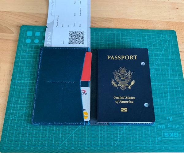 Simple Leather Passport Wallet
