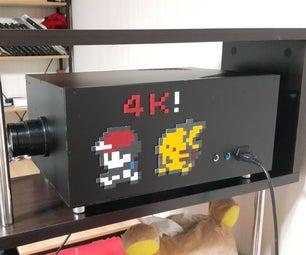World First! DIY Real 4k (UHD) Beam Projector