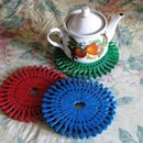 Teapot Mat DIY Projects with Pegs and Caps