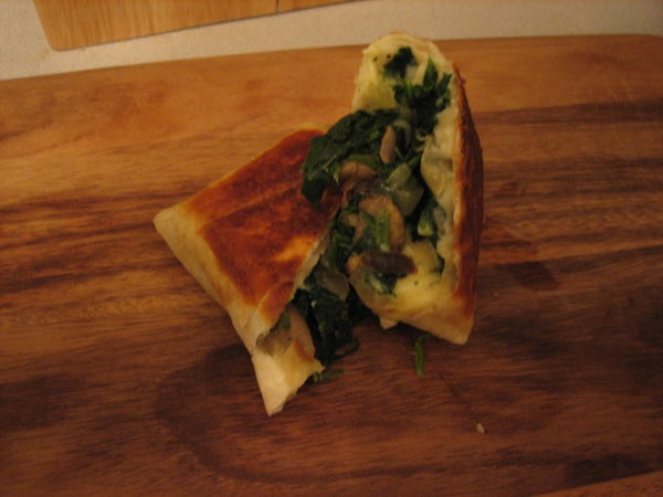 Spinach and Mushroom Wrap