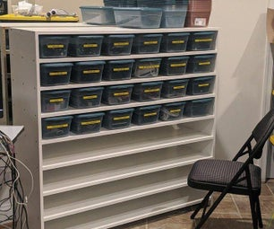 Even Easier DIY 48-bin Shelf