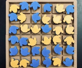 DIY 2在1个棋盘游戏(O-Sheep-thello和锁定)用tinkercad制作
