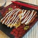 Zucchini Okonomiyaki (Japanese Fried Vegetable Pancake)