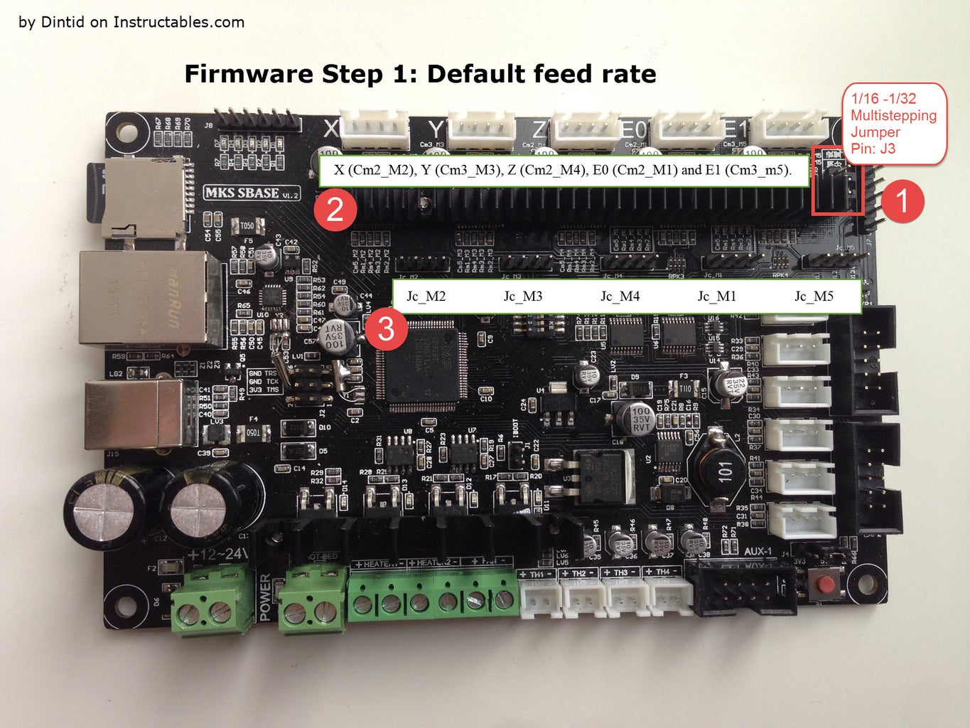 Firmware Step 1: Default Feed Rate