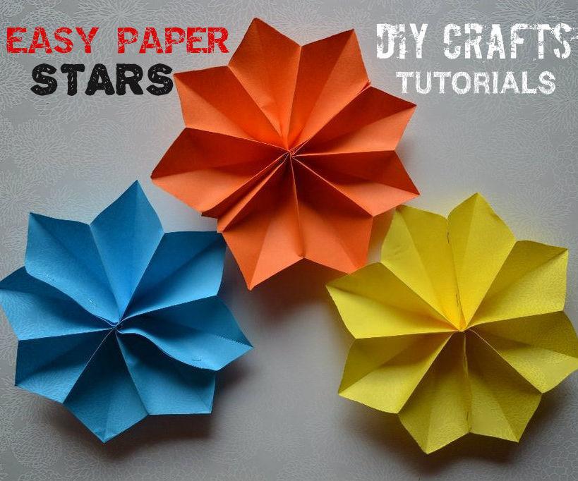 DIY Crafts Tutorials - Easy Paper Stars