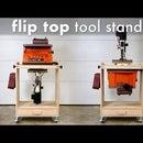 Cómo construir una estación de trabajo con soporte para herramientas con tapa abatible para bricolaje // Proyecto de taller de carpintería