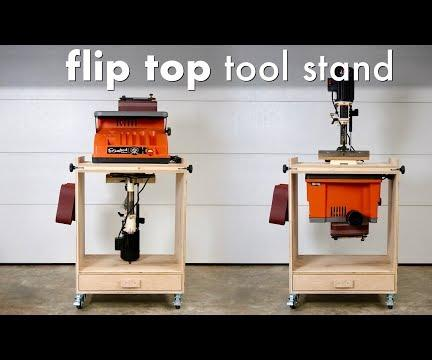 How to Build a DIY Flip Top Tool Stand Workstation // Woodworking Shop Project