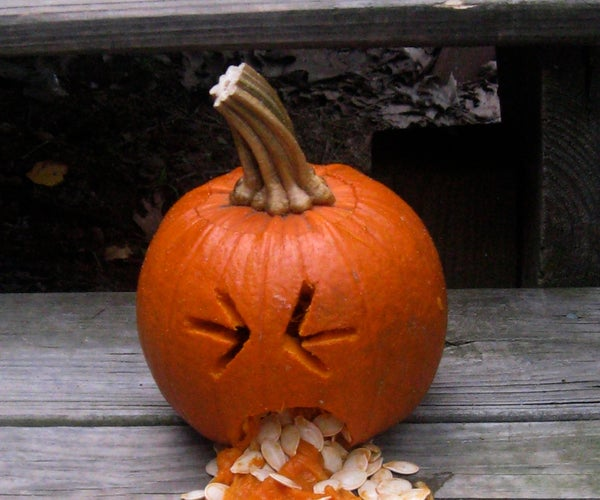My First and Only Pumpkin Carved in My Life. Humorous