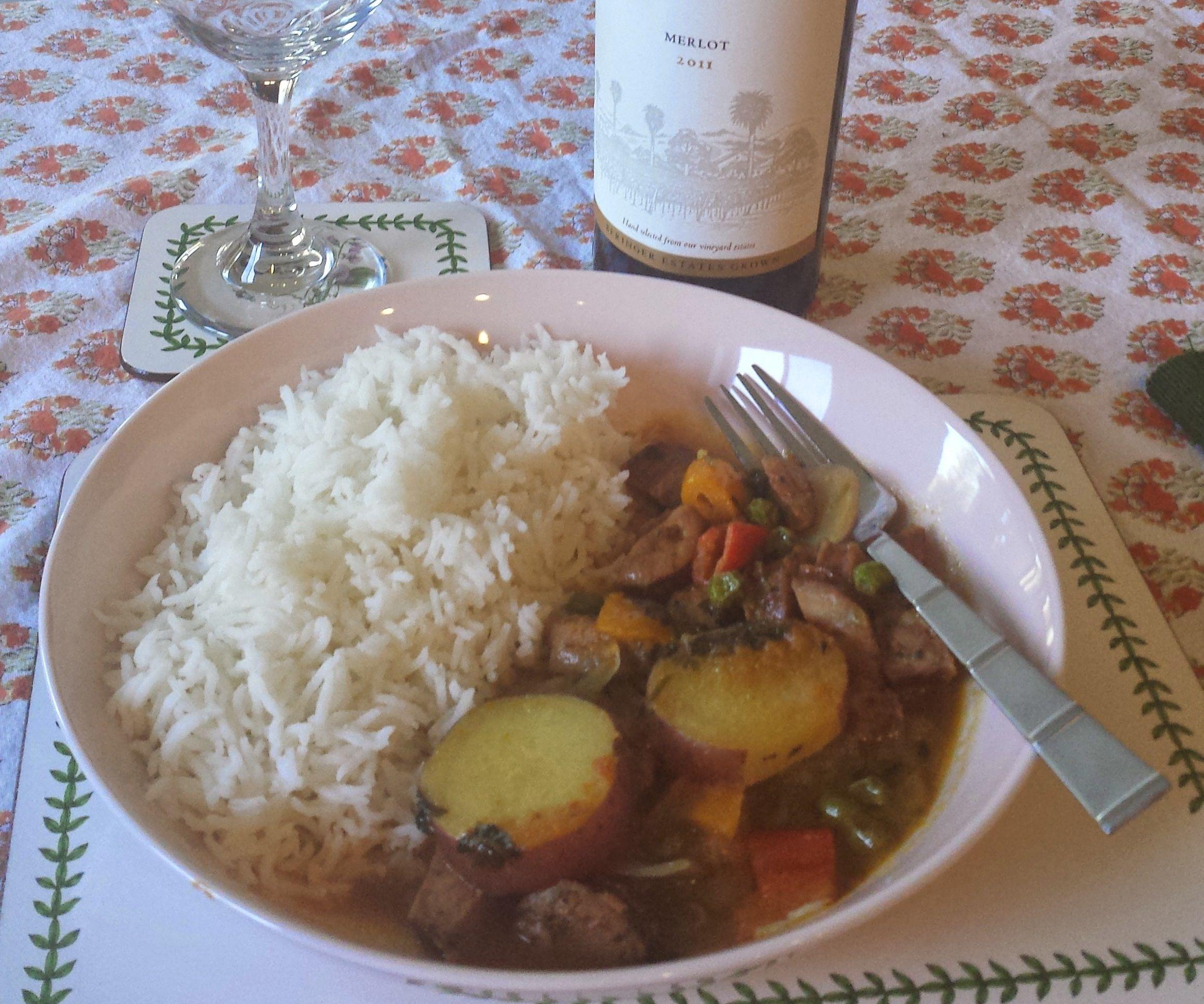 Chicken or Pork Sausage Curry