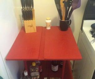 Custom Kitchen Shelves for Small Apartment