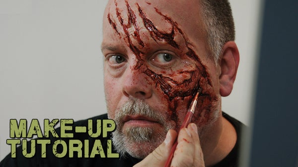 How to Apply a Prosthetic to Yourself - Walking Dead Zombie Style!