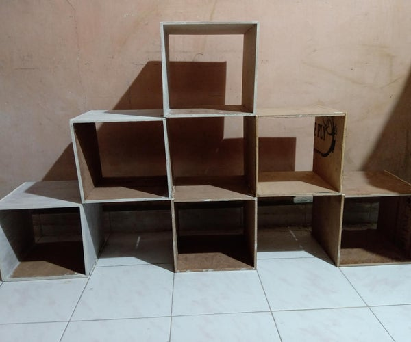Transforming Bookshelf(static Model) # Inspired by Are Baloni Woodworks!