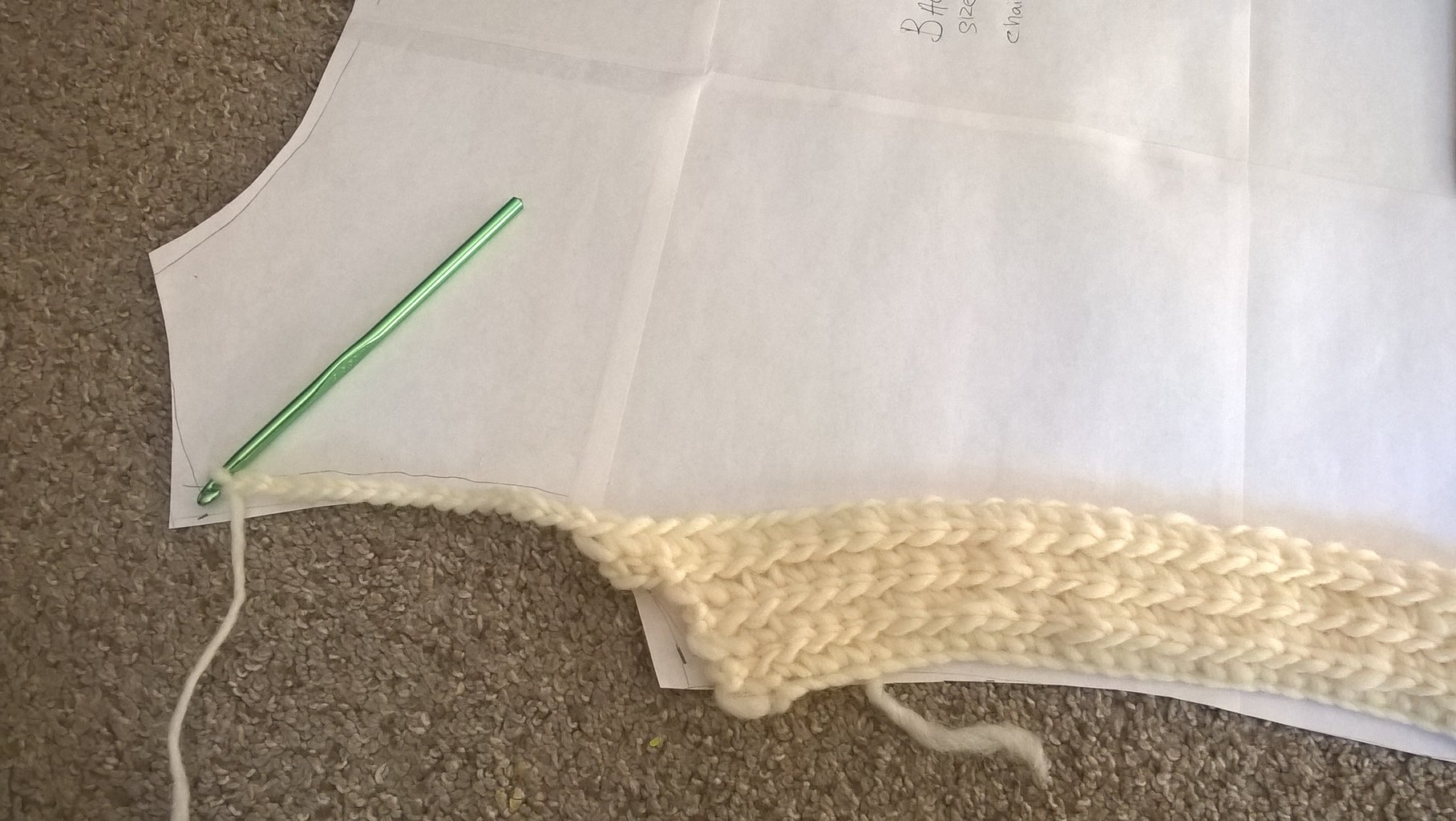 Crocheting the Back Panel