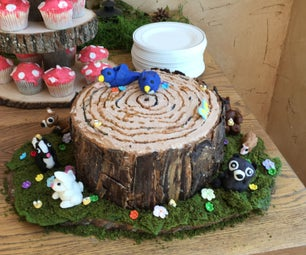 Woodland Creatures Shower Cake