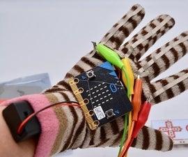 Makey Makey and Micro:bit Power Glove