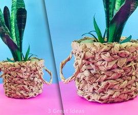 Diy Kraft Paper Basket