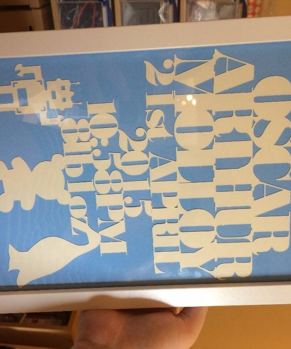 Paper Cut, All in One, Baby Artwork