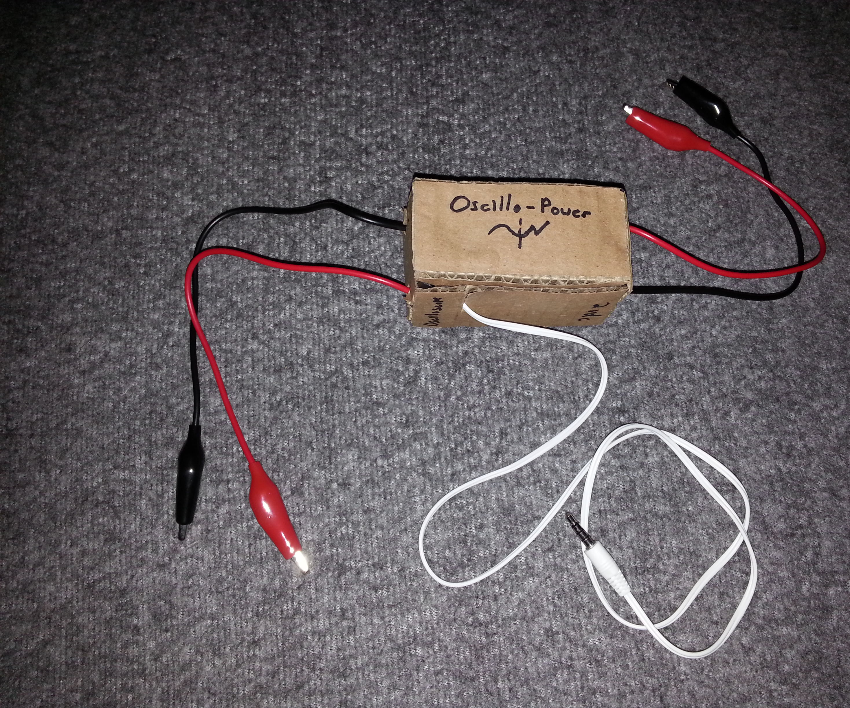 Oscillo-Power: Audio Jack Oscilloscope/Power Supply for Smart Phones or Other Devices