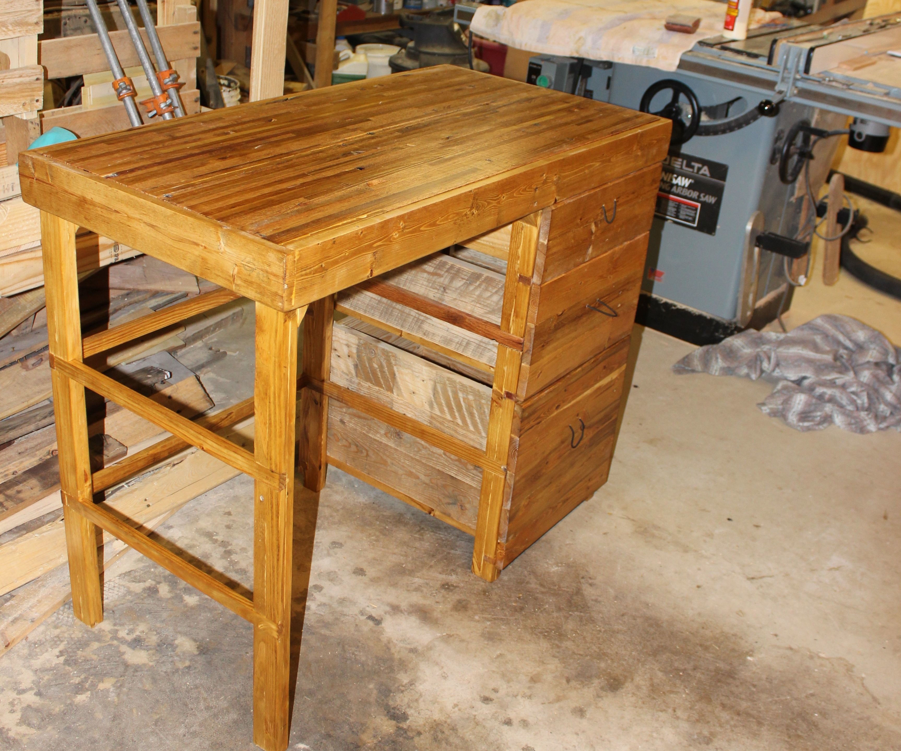 Pallet Desk with Drawers