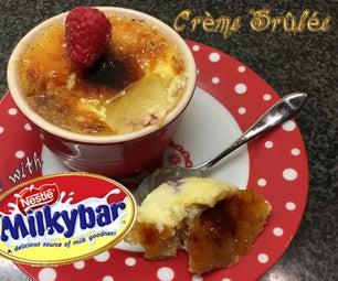 White Chocolate and Raspberry Crème Brûlée Made With Milkybar