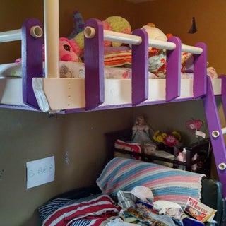 Partially Freestanding Loft Bed Under $50