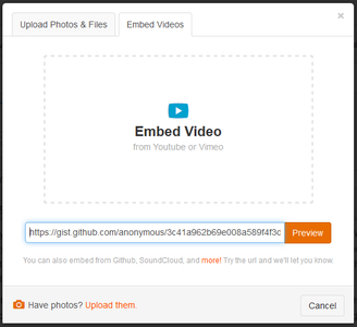Embed Content From Github