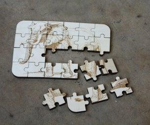 "Free Laser Cut 4""x6"" Puzzle"