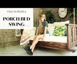 DIY Porch Swing Bed