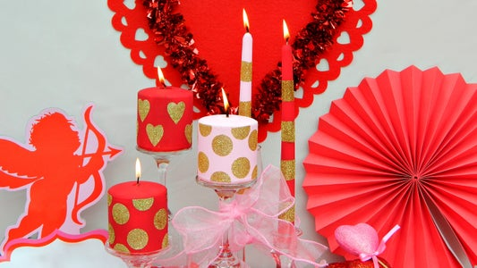 Candle Makeovers for Valentine's Day