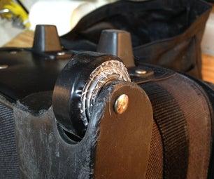 Repair Broken Luggage Wheels With Duct Tape