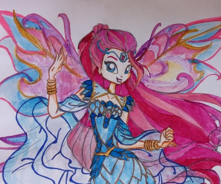 How to Draw Bloom ( Winx Club ) - Bloomix Transformation
