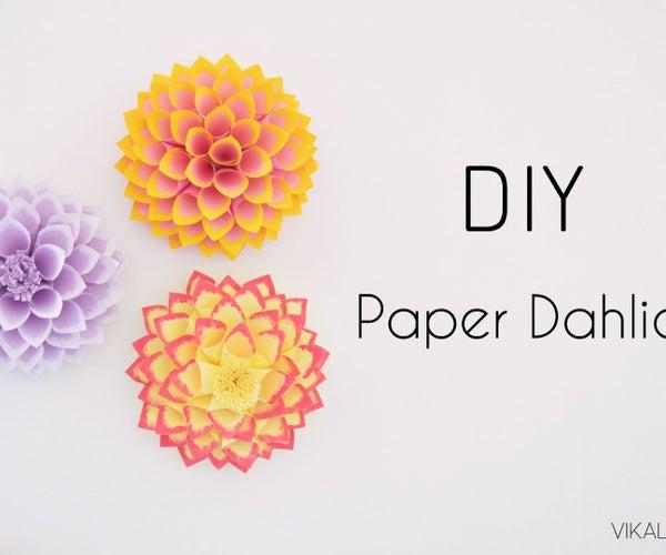 DIY Paper Dahlia