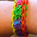 How To Make A Starburst Bracelet On The Loom!